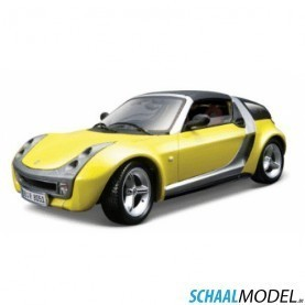 Smart Roadster-Coupe 1:18 Geel