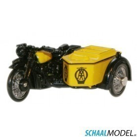Bsa Motorcycle And Sidecar 1:76 Zwart