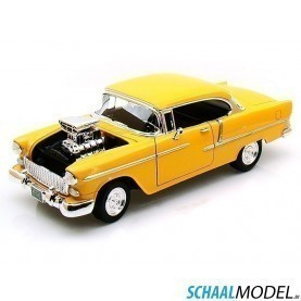 Chevrolet Bel Air Custum 1955 1:18 Geel