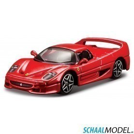 Ferrari F50 Race & Play 1:64 Rood