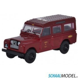 Land Rover Serie 2 Station Wagon British Railways 1:76 Rood