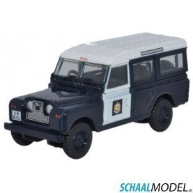 Land Rover Serie 2 Station Wagon Hong Kong Police 1:76 Blauw