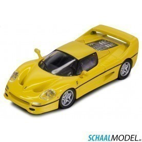 Ferrari F50 Race & Play 1:64 Geel