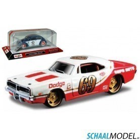 Dodge Charger Rt 1969 1:64 Rood