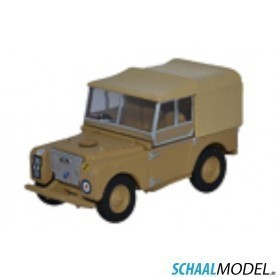 Land Rover Serie 1 80 Canvas 34th Light Aa Reg, Raf Firdan 1:76 Zand