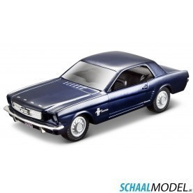 Ford Mustang 1965 ´pullback´ 1:32 Blauw