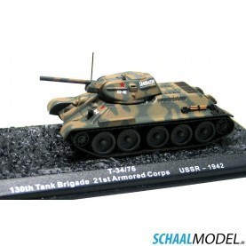 T-34 / 76 130 Tank Brigade 21st Armored Corps Ussr - 1942 1:72 Camouflage