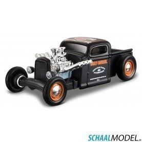 Chevrolet Pick Up 1936 Harley-davidson 1:64 Zwart