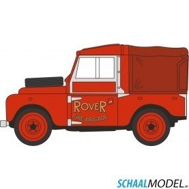 Land Rover Serie 1 Rover Fire Brigade 1:148 Rood