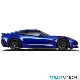 Chevrolet Corvette Grand Sport 2017 1:24 Blauw