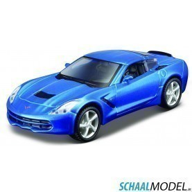 Chevrolet Corvette Stingray 2014 Pull-back 1:43 Blauw
