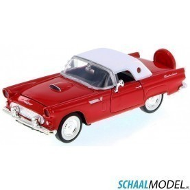 Ford Thunderbird Cabriolet Hard Top 1956 1:24 Rood